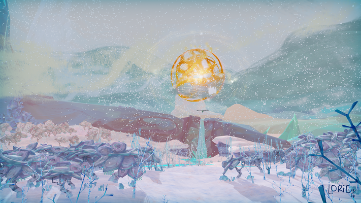 Ice cascade under the sun, from the game trailer.