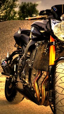 Motorrad FZ8 Shooting