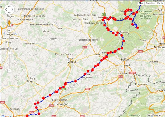 Jour 4: LeBonhomme-Dole, 360 kms