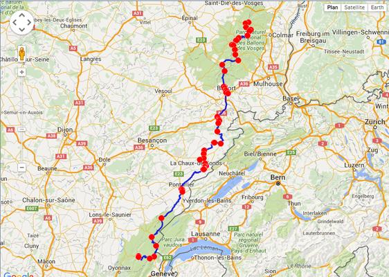 Jour 2: St Claude-LeBonhomme, 391 kms