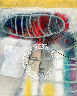 Brautschau, 94 x 78,Acryl auf Lwd.,2007