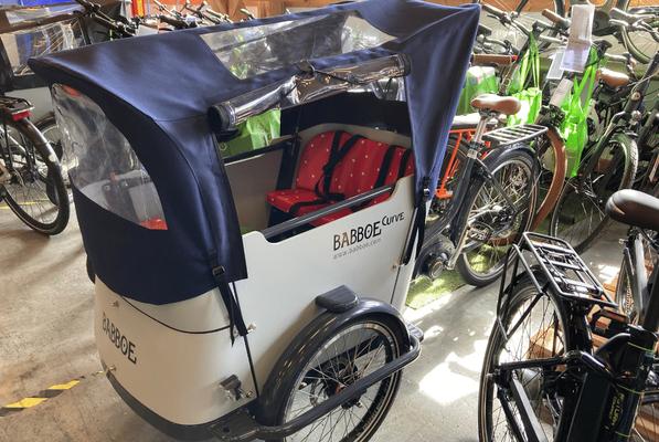 Das Babboe Lasten e-Bike in dem Lastenfahrrad-Zentrum Ahrensburg