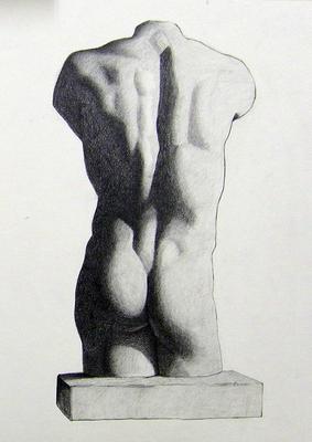 Grafito 50 x 40 cm. Valeriano García (Alumno de 1º año).