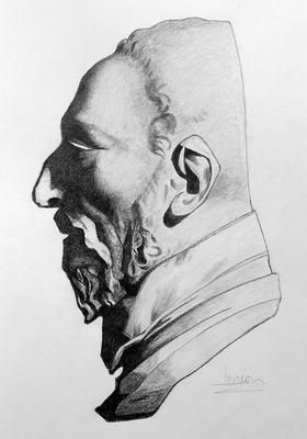 Grafito 40 x 30 cm. Maribel López (Alumna de 1º año).