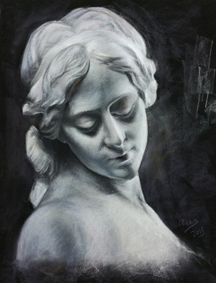 Copia del yeso. Pastel 65 x 50 cm. Ana Rodríguez (Alumno 5º año)