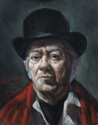 John Tuck. Copia de Michael Siegel, pastel 65 x 50 cm. Juan Pedro Amador (Alumno de 4º año)