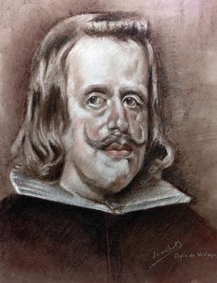 Felipe IV. Sepia, sanguina y blanco 65 x 50 cm. Maribel (Alumna de 3º año)