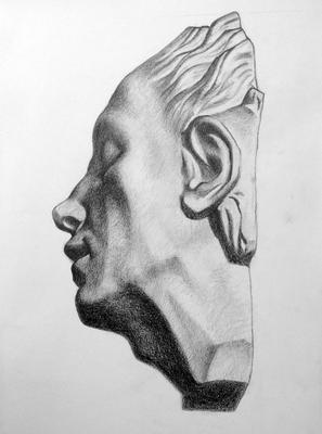 Grafito 40 x 30 cm. Candela Correa (Alumna de 1º año).