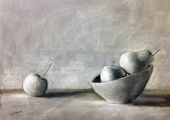 Naturaleza muerta. Pastel 50 x 65 cm. Olalla Mancha (Alumna de 1º año)