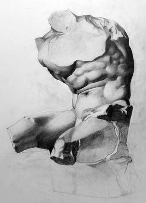 Grafito 50 x 40 cm. Lucia Macías. (Alumna de 1º año).