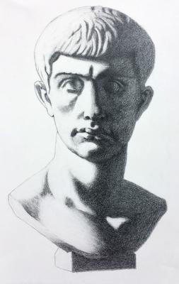 Grafito 40 x 30 cm. Luis Gustavo Molero. (Alumno de 1º año).