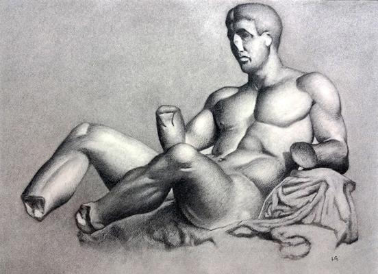 Carboncillo 35 x 50 cm. Luis Gustavo Molero. (Alumno de 1º año).