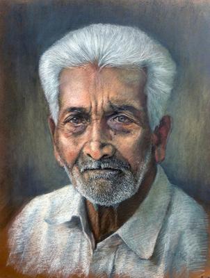 Hindú. Pastel 65 x 50 cm. Antonio Ortíz (Alumno de 3º año)