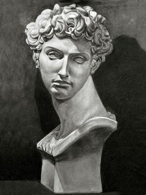 Luciano de Medici, Carboncillo 70 x 50 cm. Eduardo Miranda (Alumno de 1º año).