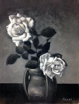 Naturaleza muerta. Pastel 65 x 50 cm. Sara Hormigo (Alumna de 2º año)