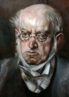 Adolph Menzel. Copia de Boldini, pastel 65 x 50 cm. Mª Ángeles Pulido (Alumna de 4º curso)