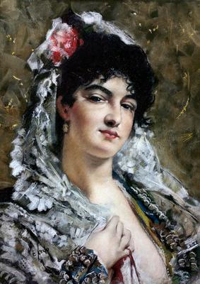 La tirana. Copia de Jose Casado, pastel 65 x 50 cm. Eduardo Sordo (Alumno de 4º año)