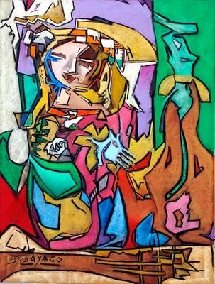 Menina, Copia de Simancas, pastel 65 x 50 cm. Diony Sayago (Alumna de 2º año)