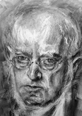 Adolph Menzel. Copia de Boldini, carboncillo 65 x 50 cm. Mª Ángeles Pulido (Alumna de 2º año)