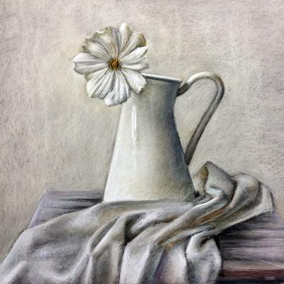 Naturaleza muerta. Pastel 50 x 50 cm. Sara Hormigo (Alumna de 2º año)