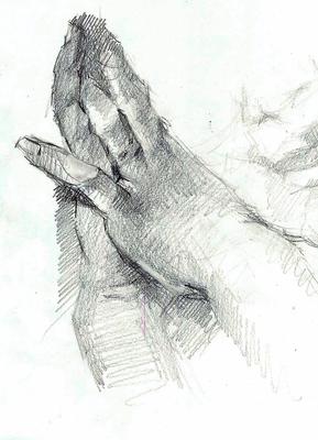 Aline Masson (Sketch). Copia de R. Madrazo, grafito 40 x 30 cm. Antonio Ortíz (Alumno de 3º año)