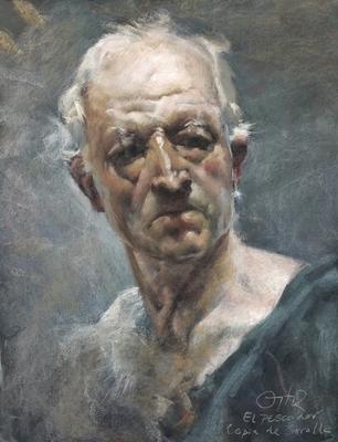 El Pescador. Copia de Sorolla, pastel 65 x 50 cm. Antonio Ortíz (Alumno de 3º año)