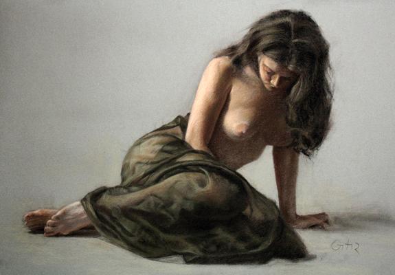 Denudo. Pastel 70 x 100 cm. Antonio Ortíz (Alumno de 3º año).