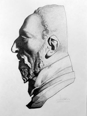 Grafito 40 x 30 cm. Leonor Martín (Alumna de 1º año).