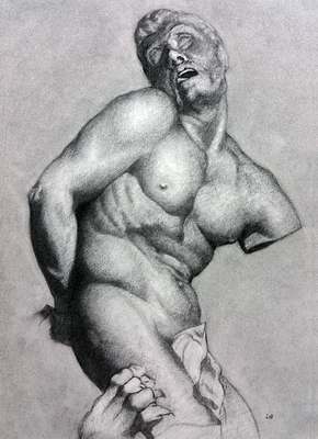 Carboncillo 50 x 40 cm. Luis Gustavo Molero. (Alumno de 1º año).