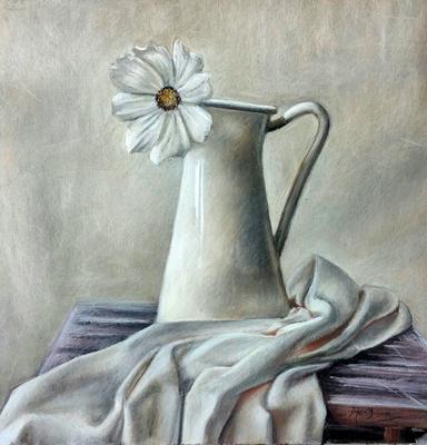 Naturaleza muerta. Pastel 50 x 50 cm. Mery Arcos (Alumna de 1º año)
