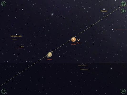 diese Planetenkonstellation haben wir gesehen, watching Saturn, Jupiter & Pluto in this constellation