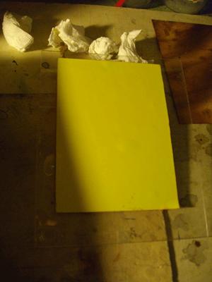 essuyage au dos du papier