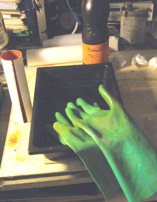 préparation pour la sensibilisation (gants obligatoires )