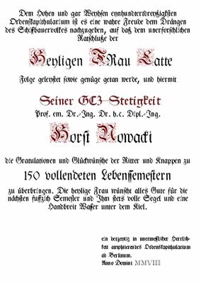 Prof. Nowacki den  Orden  (Quelle Latte)