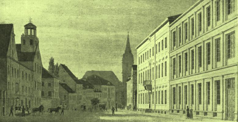 Abbildung 3: Königliches Gewerbeinstitut in Berlin  in der Klosterstraße, 1821 als Königliche Gewerbeschule gegründet (Quelle 50 Jahre Latte)