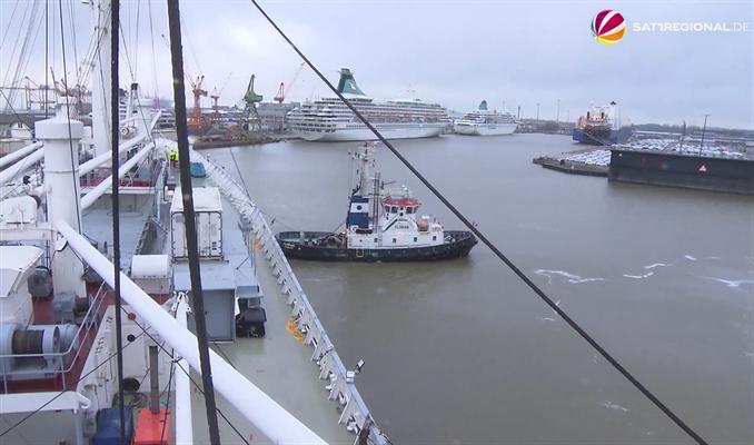 Ankunft Bremerhaven (Quelle Radio Bremen)