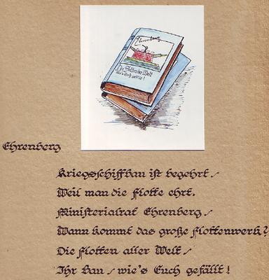 Ehrenberg wurde 1927 berufen und wurde 1945 Rektor der Hochschule   (Quelle Latte)