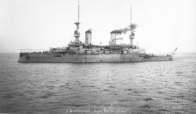 Linienschiff Kaiser Karl der Große, 1902 (Quelle B&V)