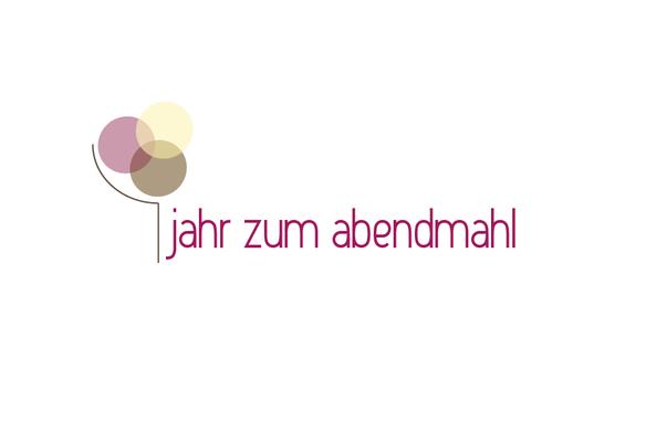 """Logo und Corporate Design für das """"Jahr zum Abendmahl"""" im Kirchenkreis Leine-Solling 2011. Ein ganzes Jahr lang standen Veranstaltungen, Ausstellungen und vielfältige Aktionen unter diesem Motto. http://www.jahr-zum-abendmahl.de/"""