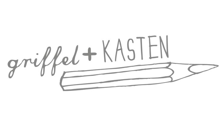 """Logo """"griffel+kasten"""" im Rahmen der Bachelorthesis"""