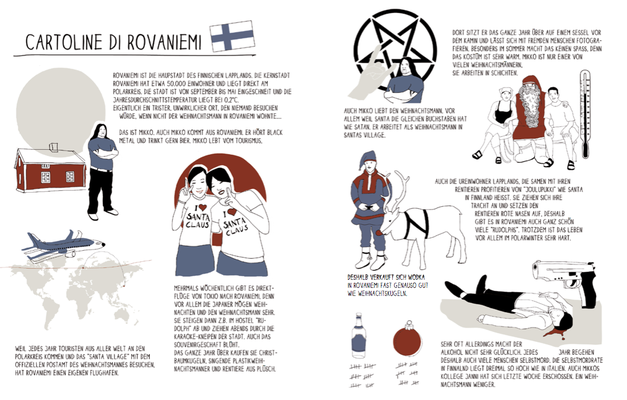 "Cartolina ""Rovaniemi"", Illustrationsprojekt Internazionale"
