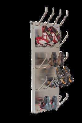 Schuhtrockner 10er mit Absaugung für Arbeitsschuhe