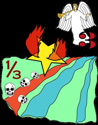Dans le livre de l'Apocalypse, nous retrouvons l'Euphrate près duquel 4 anges sont enchaînés. Les fleuves sont directement touchés par la colère divine à la 3ème trompette et lorsque le 3ème bol est versé par l'ange.