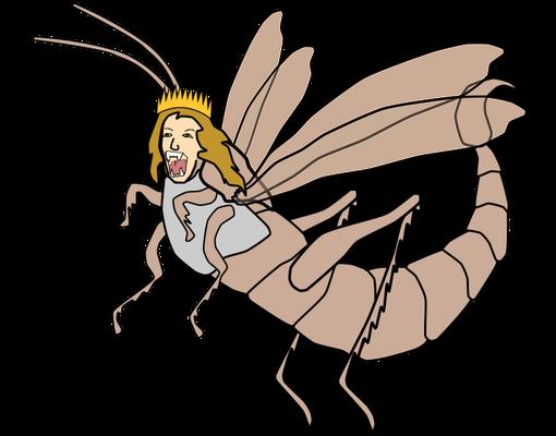 Suite au témoignage des sauterelles qui se répandent sur toute la terre, les hommes comprennent que Dieu existe vraiment et qu'il demande des comptes aux humains. Le verset d'Apocalypse 16 :10 dit qu'ils se mordent la langue de douleur.