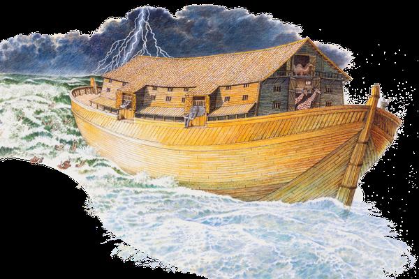 C'est par la foi que Noé, averti des événements que l'on ne voyait pas encore et rempli d'une crainte respectueuse, a construit une arche pour sauver sa famille. C'est par elle qu'il a condamné le monde et est devenu héritier de la justice.