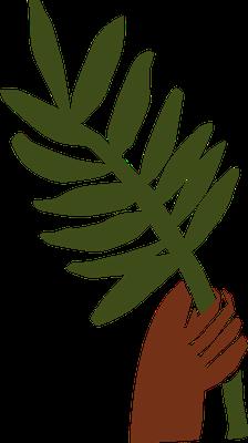 Bien que d'origines très diverses, les chrétiens composant la grande foule sont unis dans le culte du seul vrai Dieu et de son Fils Jésus-Christ et portent des palmes dans leurs mains en signe de paix, de justice et de prospérité.