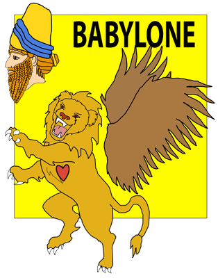 Le prophète Daniel, en exil à Babylone reçoit une vision décrivant la succession des puissances politiques mondiales. Le lion ailé correspond à Babylone.