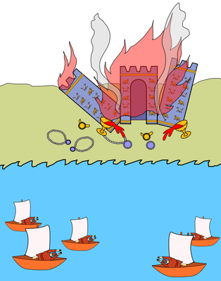 Apocalypse 18 :17,18 : « 17 Tous les capitaines, tous ceux qui naviguent, les marins et tous ceux qui vivent de la mer se tenaient à distance 18 et ils s'écriaient, en voyant la fumée de l'incendie: «Quelle ville pouvait se comparer à la grande ville?» »