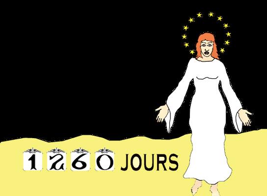 Satan se met à poursuivre la femme ou organisation spirituelle de Dieu représentée sur terre par les fidèles chrétiens. La femme doit alors se mettre à l'abri du serpent pendant 1260 jours ou 3 ans et demi.