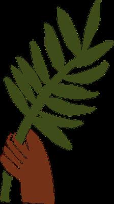 Les palmes nous font également penser à la grande foule qui vient de traverser la grande tribulation et agite des palmes tout en glorifiant Dieu et Jésus.